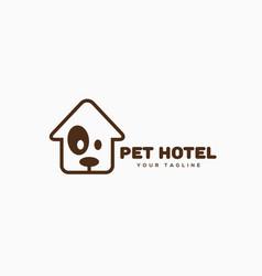pet hotel logo vector image