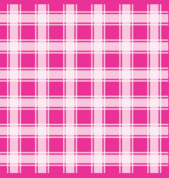 Pink gingham pattern geometric background vector