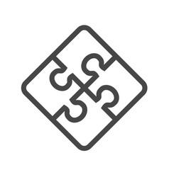 Puzzle thin line icon vector