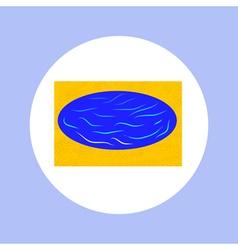 sea in circle vector image