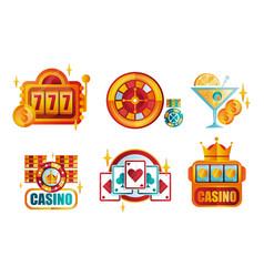 Set original retro logo templates vector