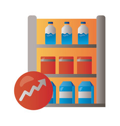 shelving market with arrow up infographic vector image