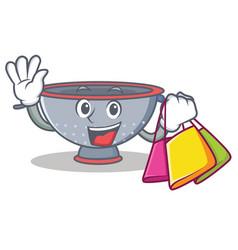Shopping colander utensil character cartoon vector