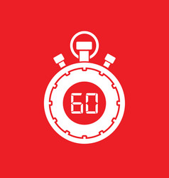 sixty minute stop watch countdown vector image