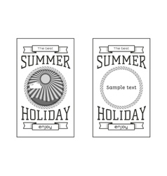 Summer holiday party festival logos badges vector image