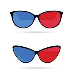 sunglasses in blue and red vector image