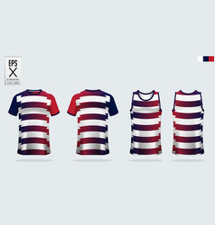 T-shirt sport mockup template design for soccer vector