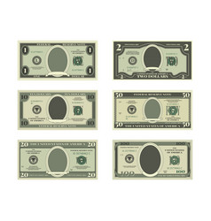 Template of fake money pictures of dollars vector