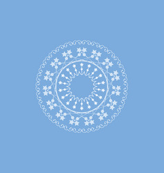 three round lace border - blue background - for vector image