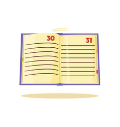 time management notebook vector image