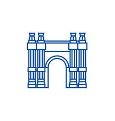 triumphal arch line icon concept triumphal arch vector image