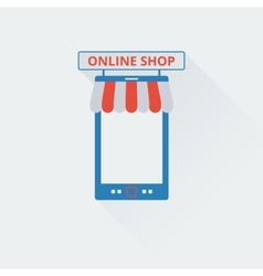 Two-tone icon online store vector image