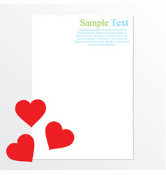 valentine card with space for text vector image