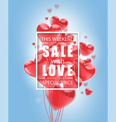 valentines day advertising sale white vector image