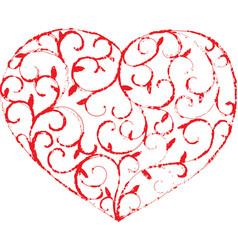 Vine heart1 vector