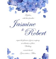 wedding invitation flower invite card design vector image