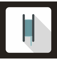 Wire spool icon flat style vector image