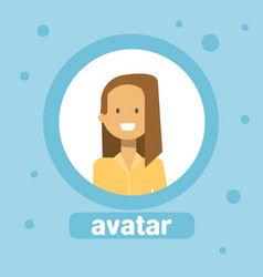 Woman avatar businesswoman profile icon element vector