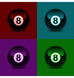 8 ball vector image vector image
