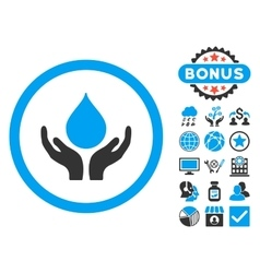 Blood Donation Flat Icon with Bonus vector image