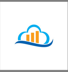 cloud business data logo vector image