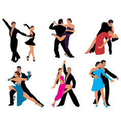 Dancing couples vector image