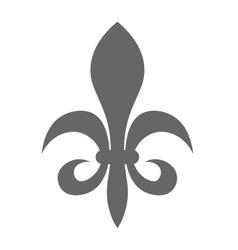 Fleur de lis - sign of lily decorative heraldry vector image