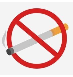 No Smoking prohibiting sign vector image