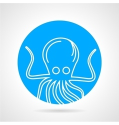 Octopus abstract round icon vector image