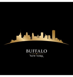 Buffalo New York city skyline silhouette vector image vector image