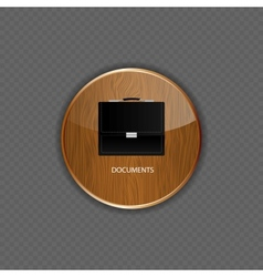 Documents wood application icons vector image vector image