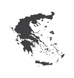 Hellenic republic map silhouette vector