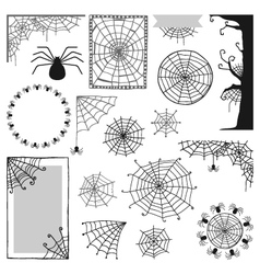 set of decorative elements for Halloween vector image