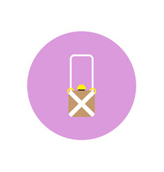 Stylish icon in color circle travel suitcase vector