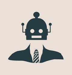 cute vintage robot with human body vector image vector image