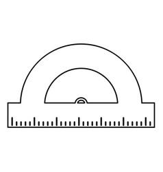 geometry protactor school thin line vector image vector image