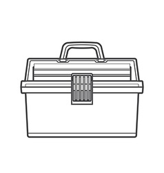 outline fishing tackle box vector image