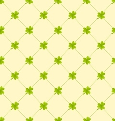 Seamless Ornamental Pattern with Clovers for St vector image