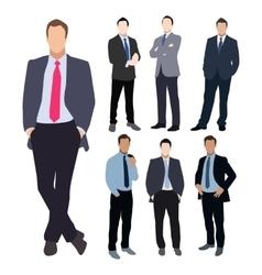 Business man silhouette set vector image