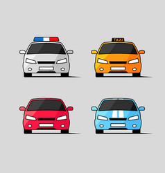 car icons front view vector image