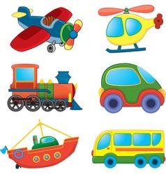 Cartoon transport toys vector image