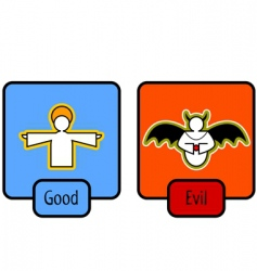good and evil symbols vector image vector image