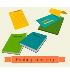 Print icons set3 vector image