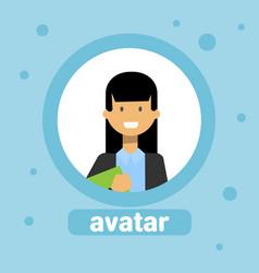 woman profile avatar businesswoman icon element vector image vector image