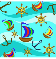 yacht background vector image