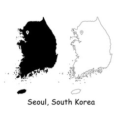1142 seoul south korea vector image