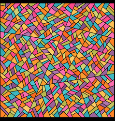 abstract colorful stained glass background vector image