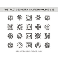 Abstract geometric shape monoline 43 vector