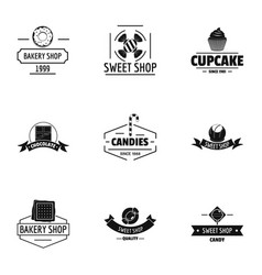 Bake mart logo set simple style vector