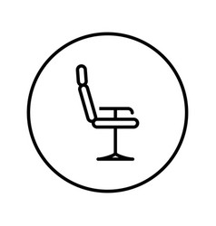 barber chair universal icon editable thin line vector image
